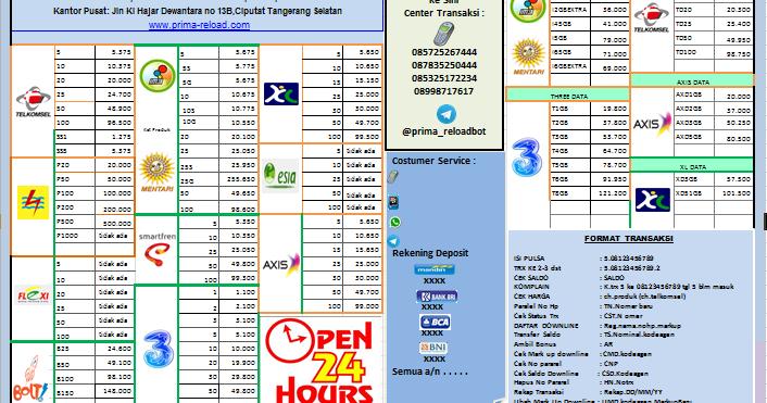 Download Contoh Brosur Pulsa Untuk Memudahkan Penjualan Jasa Server Pulsa