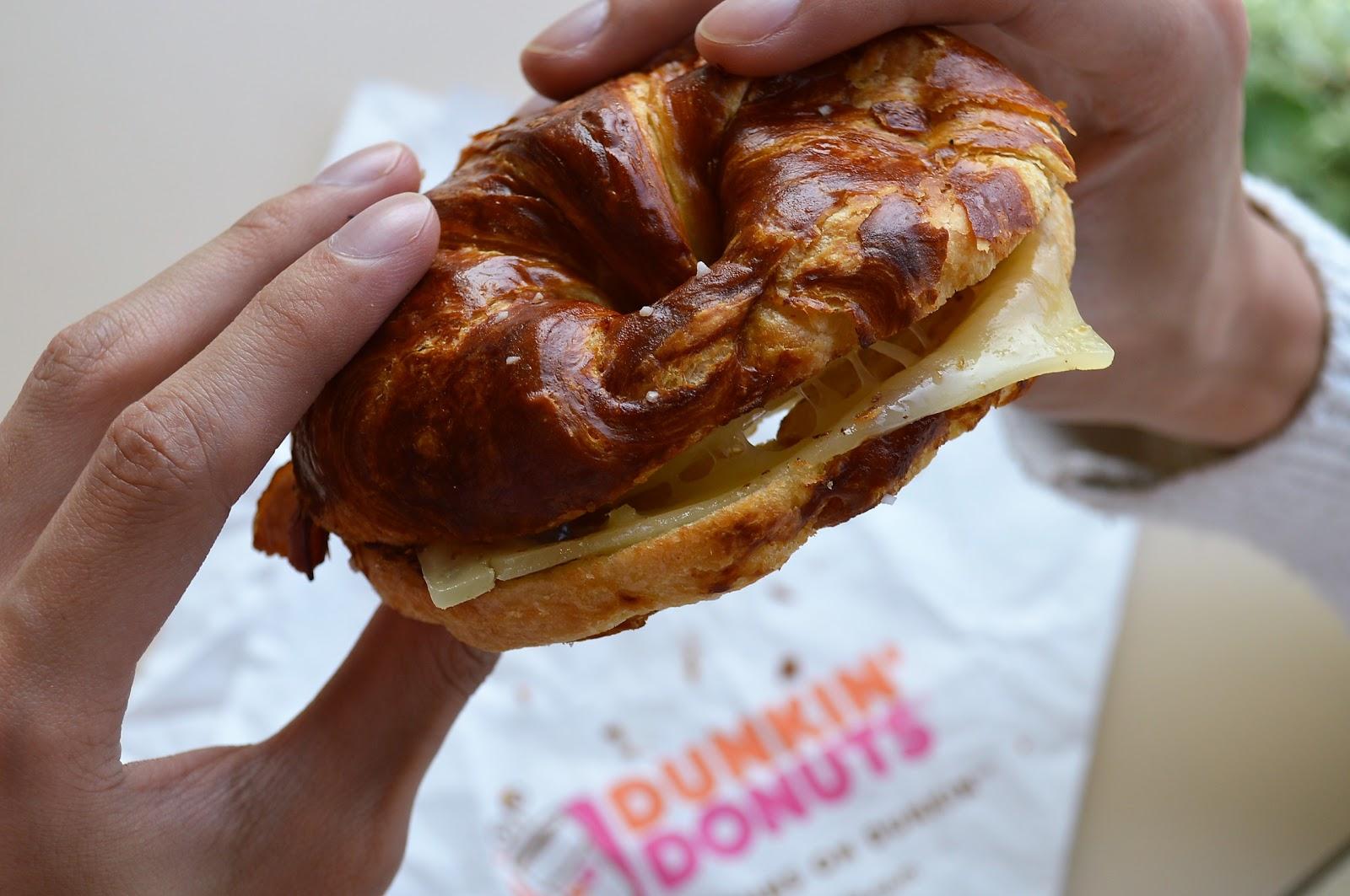 Dunkin' Donuts Debuts New Pretzel Croissant Breakfast Sandwich!