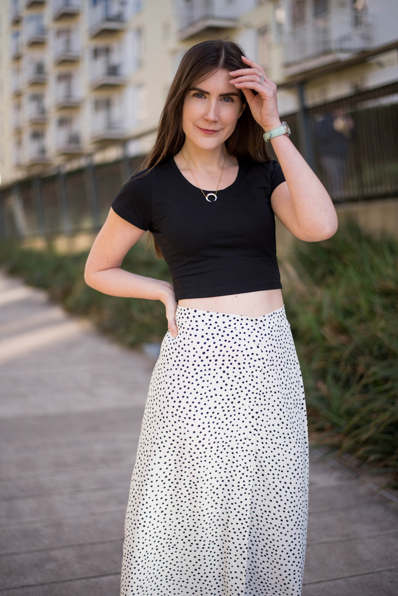 Bristol Street Style: Polka Dot Maxi Skirt
