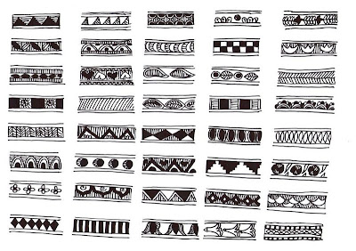 Easy Border Designs To Draw On Paper Madhubani Design Samples