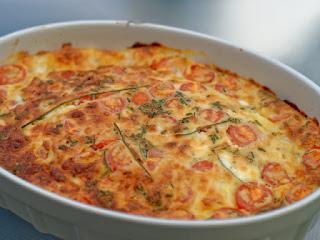 clafoutis aux maquereaux tomates cerises mozzarella et parmesan. Black Bedroom Furniture Sets. Home Design Ideas