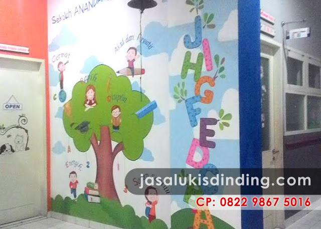 lukisan dinding anak tk