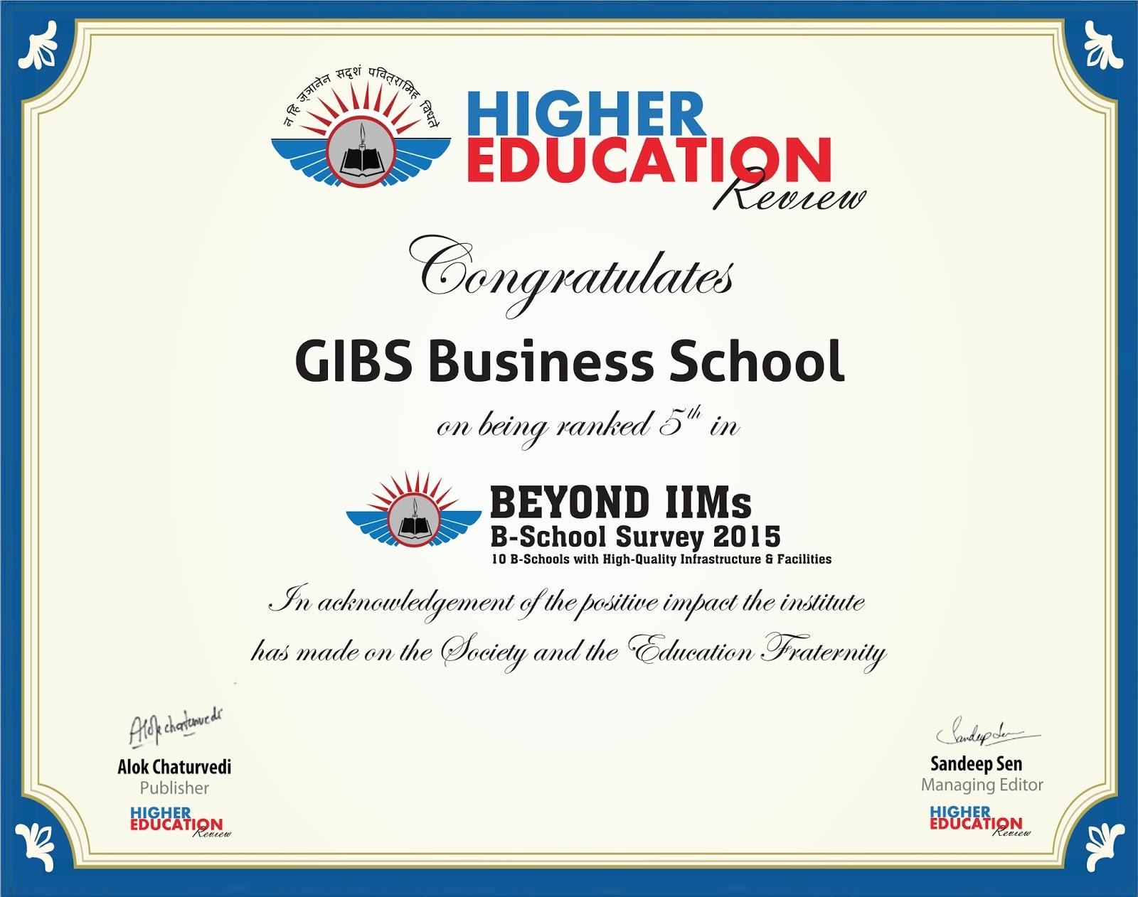 GIBS Business School, Bangalore: GIBS Business School