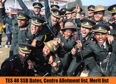 TES 40 SSB Dates, Centre Allotment list, Merit list