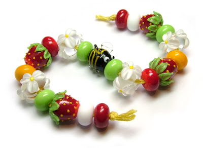 Lampwork glass beads Facebook giveaway