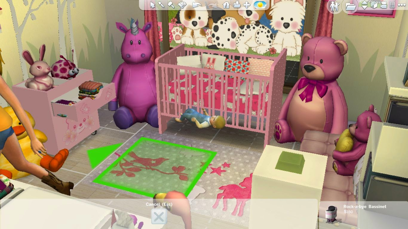 Sims 4 Room Download:Wonderland Nursery for girls ...