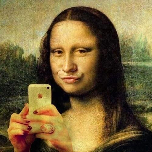 Funny Mona Lisa iPhone Photo