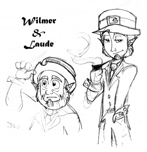 Wes Murrell Cartoons: The Leprechauns Wilmer & Laude