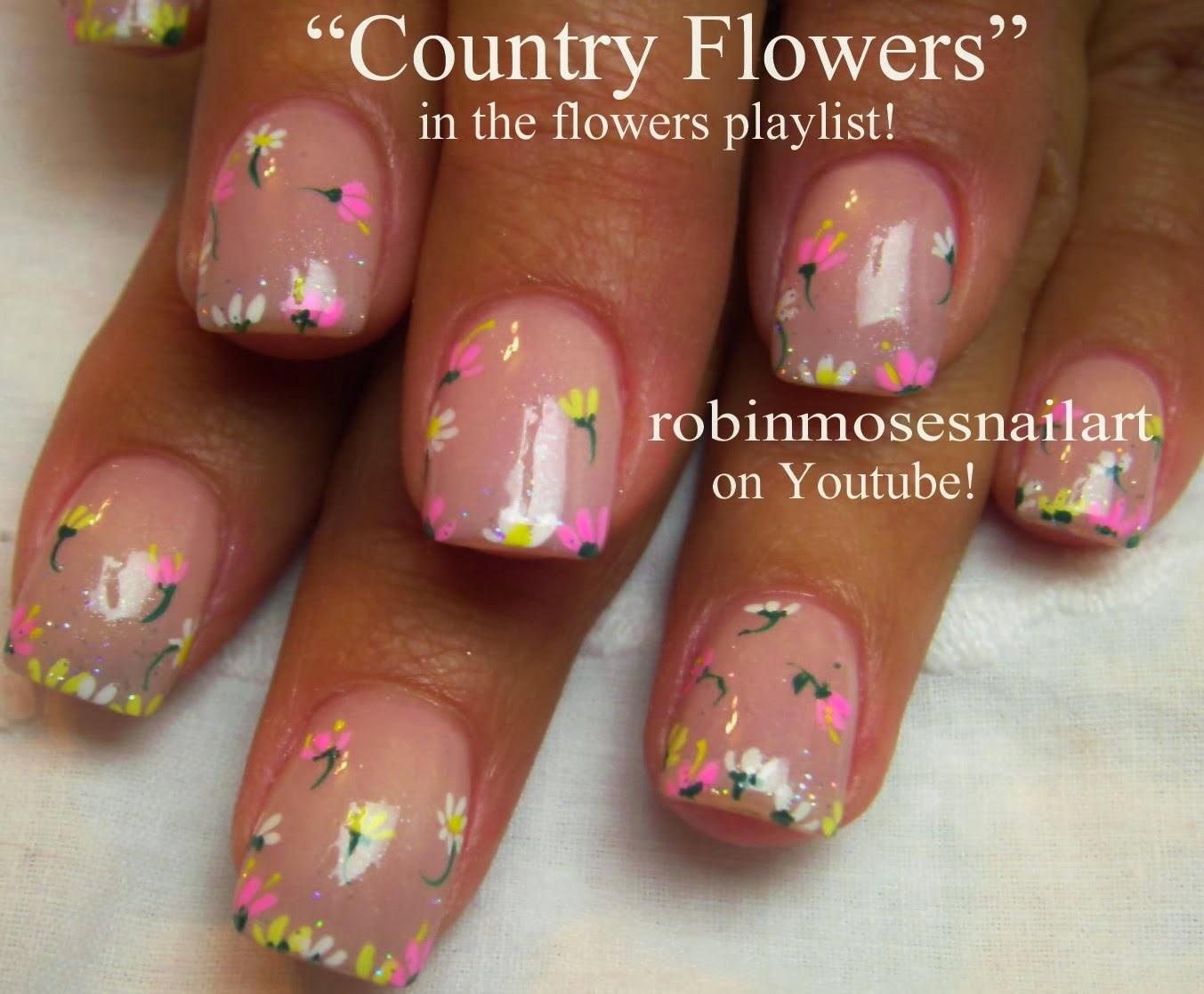 Nail Art By Robin Moses Flower Nails Matte Nails Nail Art