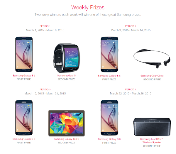 T-Mobile Samsung Sweepstakes (weekly prizes)