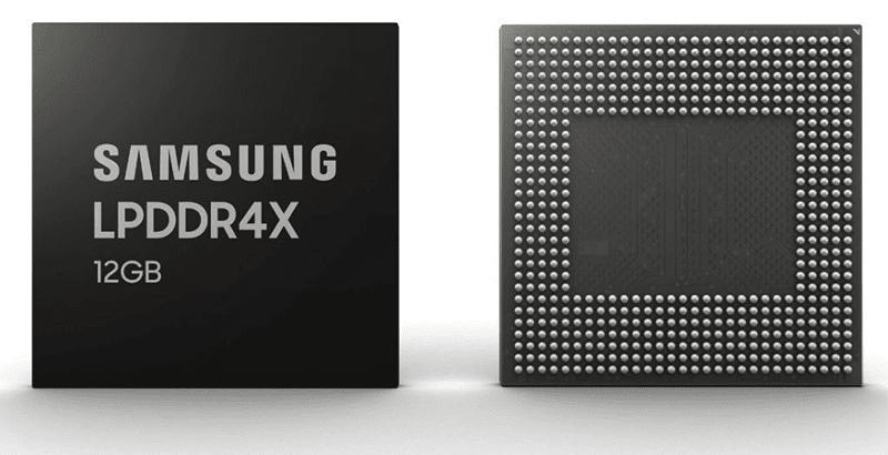 Samsung starts mass production of 12GB LPDDR4X RAM for next-gen phones