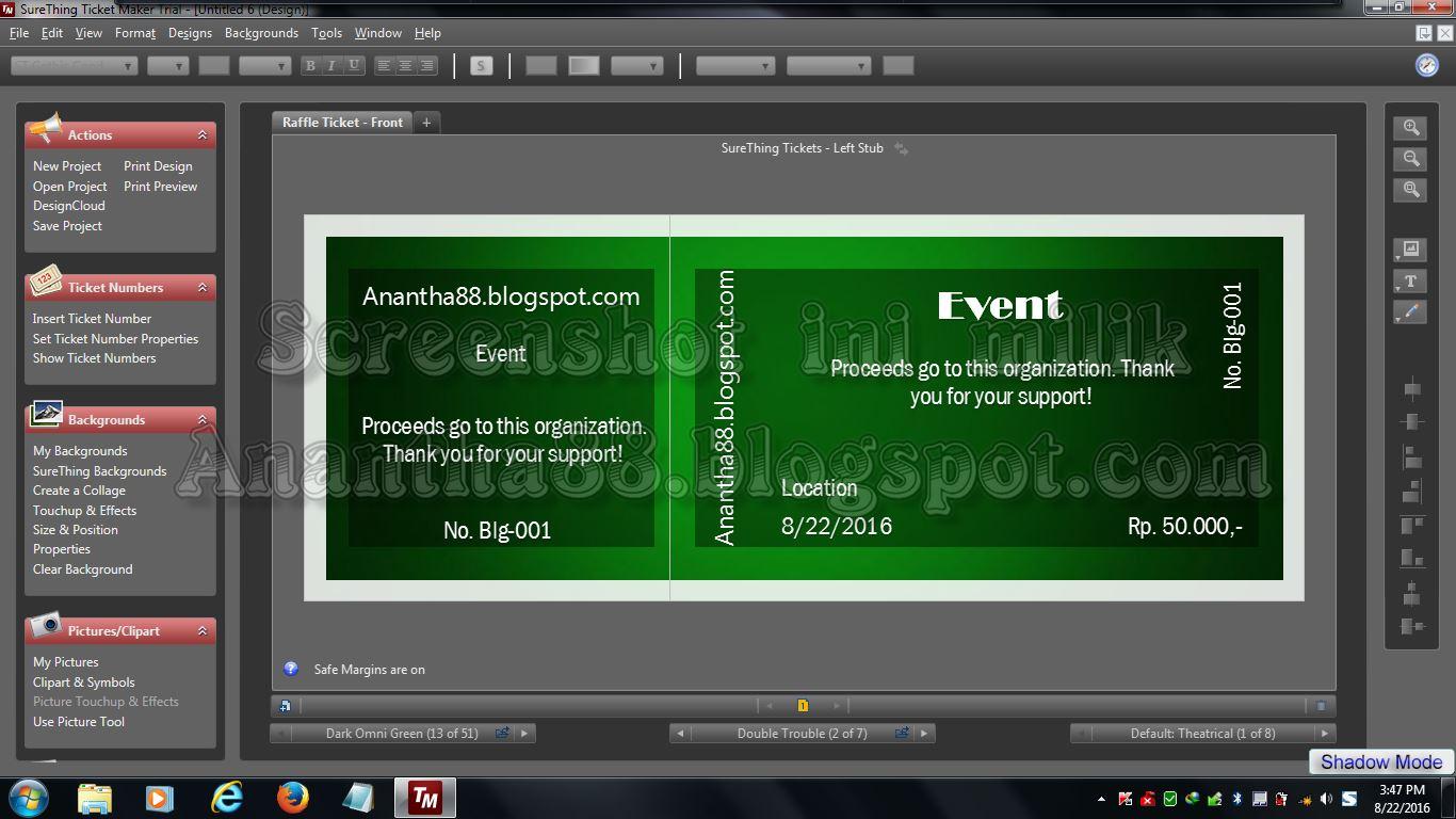 Ananthablogspot SURETHING TICKET MAKER 621380 FULL VERSION – Ticket Maker