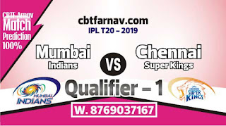 CSK vs MI Qualifier 1 Match IPL Match Prediction Today Who Will Win