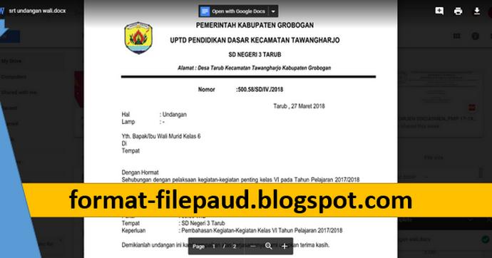 Download Surat Undangan Rapat Untuk Orang Tua Wali Murid ...