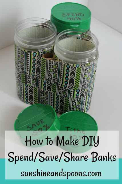 How to Make DIY Spend Save Share Banks