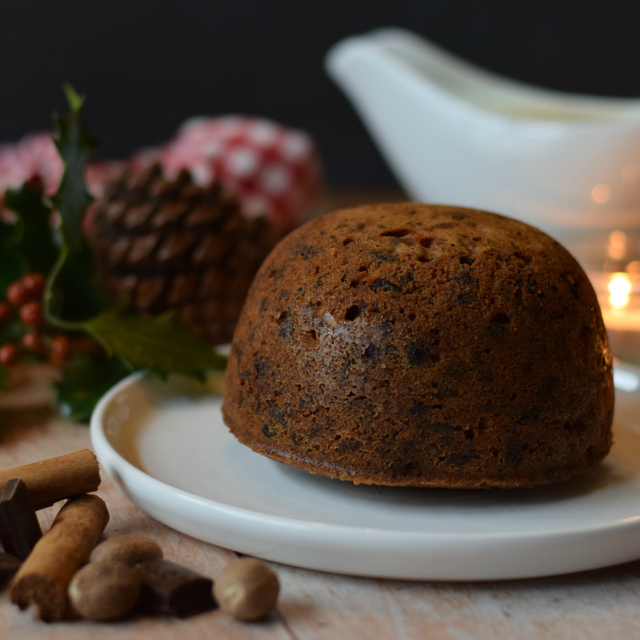 How to make a Homemade Christmas Pudding flavoured with Chocolate Orange.