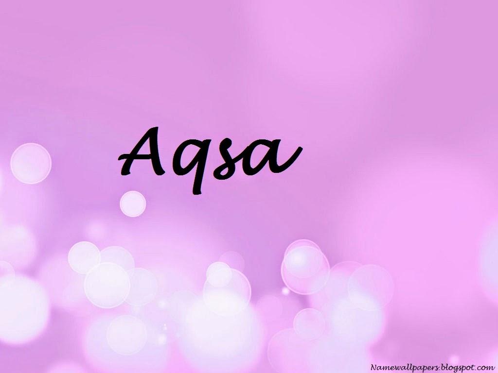 Aqsa Name Design For Cake