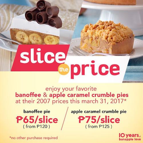 Banapple's Slice the Price Promo