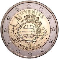 2€ Drapeau Européen 2015 Slovénie
