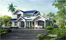 House with Blue Roof