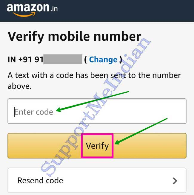 Amazon par number verify kare