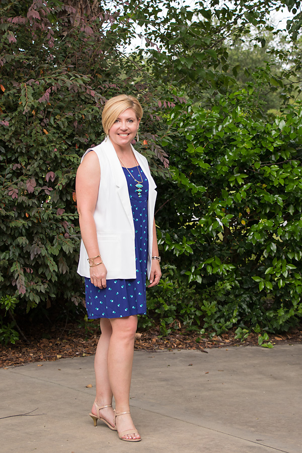 Old Navy dress, sleeveless vest