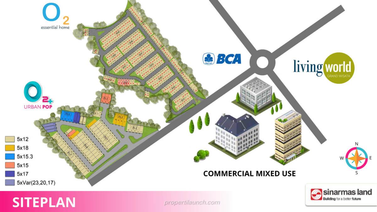 Siteplan Cluster O2+ Urban Pop