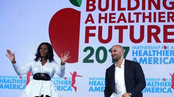 Michelle Obama attacks Trump school meals policy