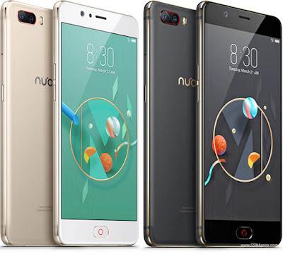Spesifikasi  Nubia M2     Konsistensi paduan warna hitam dan emas ini juga disematkan pada celah-celah tombol power dan volume. Sementara untuk penempatan kamera utama, Nubia lebih memilih bagian sudut kiri atas ketimbang berada ditengah. Sedangkan yang diletakan ditengah bagian belakang adalah logo Nubia yang juga konsisten dengan warna emas.  Secara ergonomis, perangkat ini cukup nyaman digenggam. Ukuran layar 5,5 inci namun memiliki bezel yang sedikit besar. Tapi secara dimensi, ketebalan perangkat ini terasa cukup ramping. Dan berkat tekstur doff pada finishing bagian belakang membuat perangkat ini lebih memiliki grip yang kokoh. Bagian sudut juga dipoles dengan sedemikian halus untuk desain presisi yang memukau.   Material yang digunakan adalah metal dengan konsep unibody, dimana garis emas mengelilingi perangkat pada bagian frame. Kombinasi warna yang terlihat sangat pas dan berbeda dengan banyak smartphone saat ini yang lebih banyak mengusung warna metalik dominan seperti gold dan silver. Nubia justru hadir dengan warna hitam dof. Belum lagi aksen berwarna merah pada bagian modul kamera dan fingerprint di bagian depan yang membuatnya terlihat kian berani.    Kelebihan   Penampilan sangat cantik dengan balutan bodi full metal serta perpaduan sisi lengkung 2,5D screen Layar luas 5,5 inchi AMOLED beresolusi full HD yang sangat cocok sekali buat nonton video Sisi