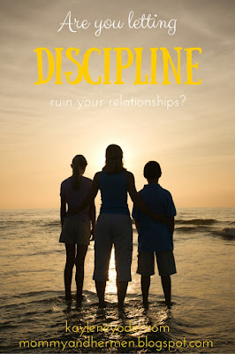 Are you letting discipline ruin your relationship with your kids?  Try thinking this one simple thought to build them back!