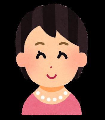 ショートヘアーの女性のイラスト