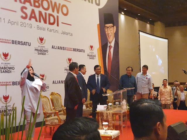 Ribuan Advokat Deklarasi Dukung Prabowo-Sandi
