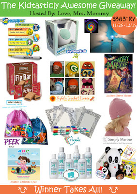 Enter the Kidtasticly Awesome Giveaway. Ends 12/15