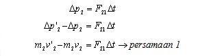 Hukum kekekalan momentum gambar 6f
