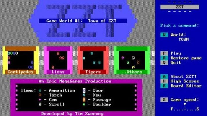 ZZT начало истории Epic Games