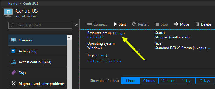 Here's how to move Azure Resources between Resource Groups