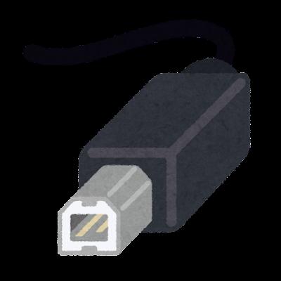 USB端子のイラスト(Type-B)