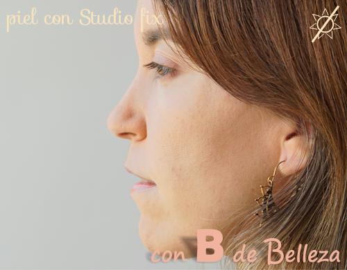 Resultado piel maquillada Studio fix