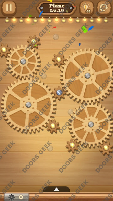 Fix it: Gear Puzzle [Plane] Level 19 Solution, Cheats, Walkthrough for Android, iPhone, iPad and iPod