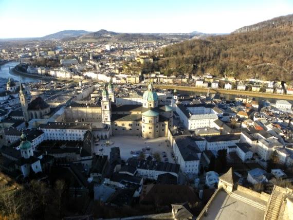 Salzburgo-Áustria-Fortaleza-Hohensalzburg