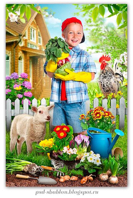 шаблон садовник