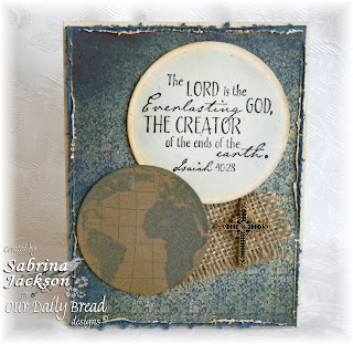 Stamps - Our Daily Bread Designs The Earth, Earth Verses, ODBD Custom Circle Ornaments Die, ODBD Christmas Paper Collection 2013