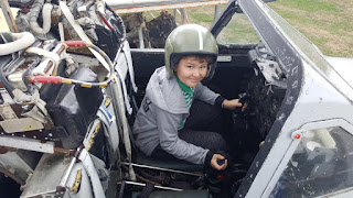 Dan Jon in a de Havilland Vampire