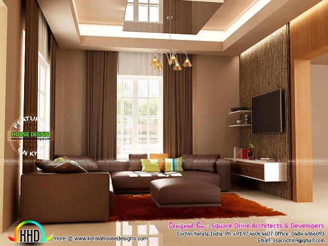 Home interior design ideas kerala home design and floor for Living room designs in kerala