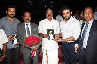 Surya And Karthi at MGR Book Launch