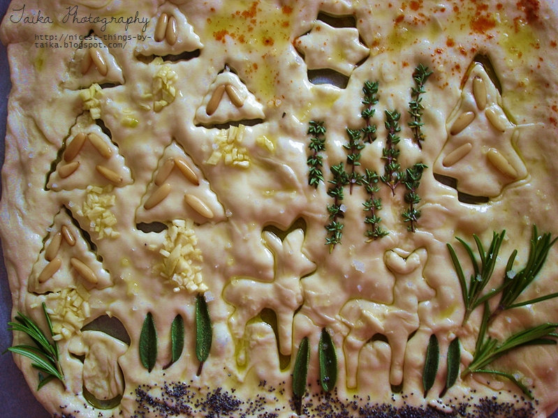 Winterwald Weihnachts Pizzabrot backen