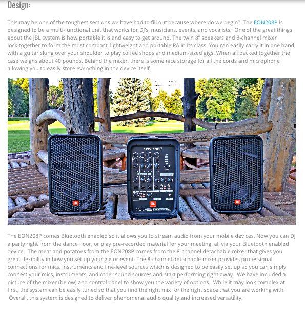 Pick of the Hits – JBL by HARMAN, EON 208P Reviewed on