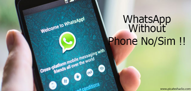 how to use whatsapp without phone no
