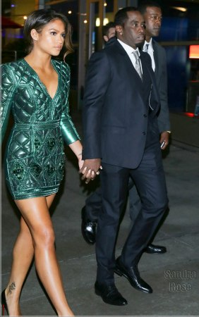 cassie diddy together combs sean baby couple porter kim were arclight spotted theater holding angeles hands los